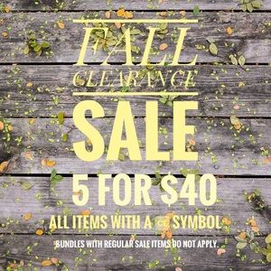FALL CLEARANCE SALE!! 5 for $40 off 🆑 items